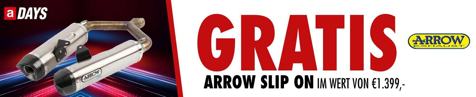 Aprilia Dorsoduro inkl. Arrow Slip on