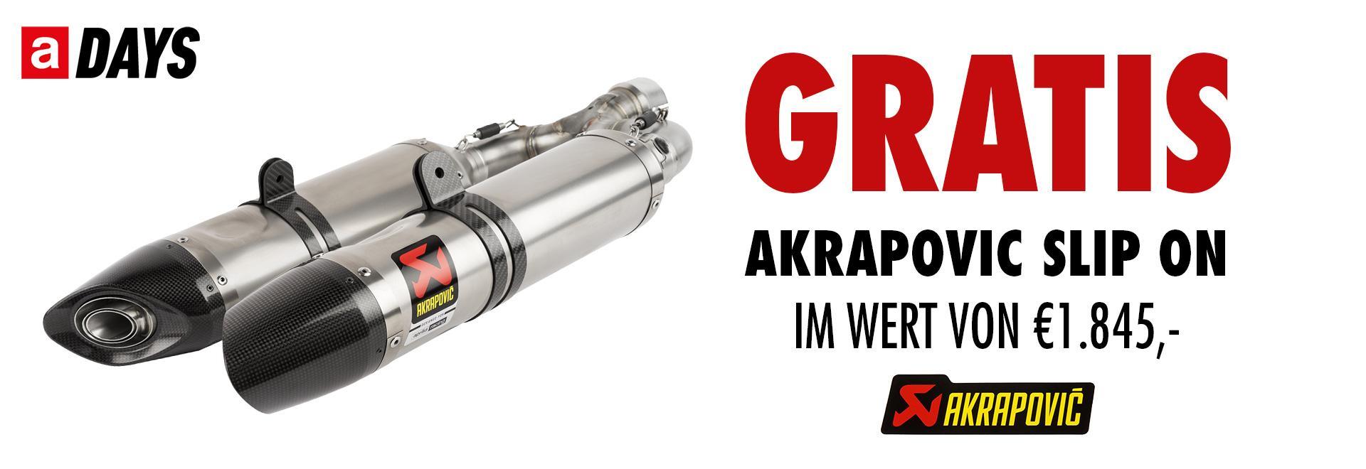 Shiver inkl. Akrapovic Slip on € 1.845.-